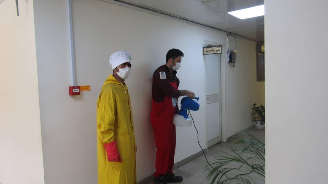 ضدعفونی علیه ویروس کرونا توسط شرکت سمپاشی آریا